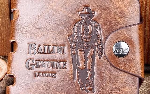 Легендарный кошелек Bailini из натуральной кожи.